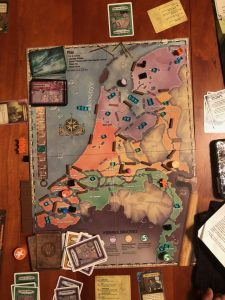 Game board at end of game