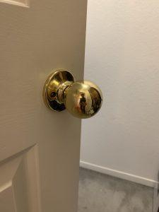 Old round brass doorknob