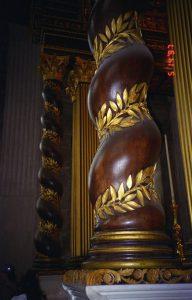 Wooden pillar in St. Paul's