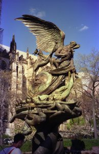 Chimera statue near cathedral